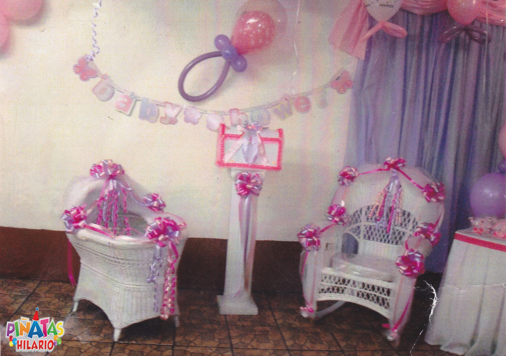We rent Baby Shower chairs, umbrella, wishing wells, love seats and